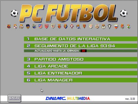 Pc Futbol 2.0 captura pantalla
