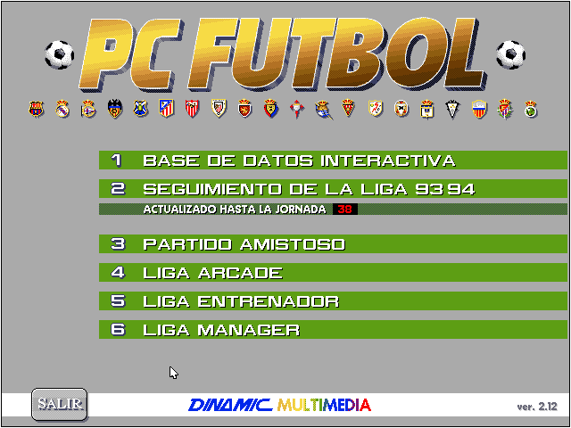 Pc Futbol 2.0 captura pantalla
