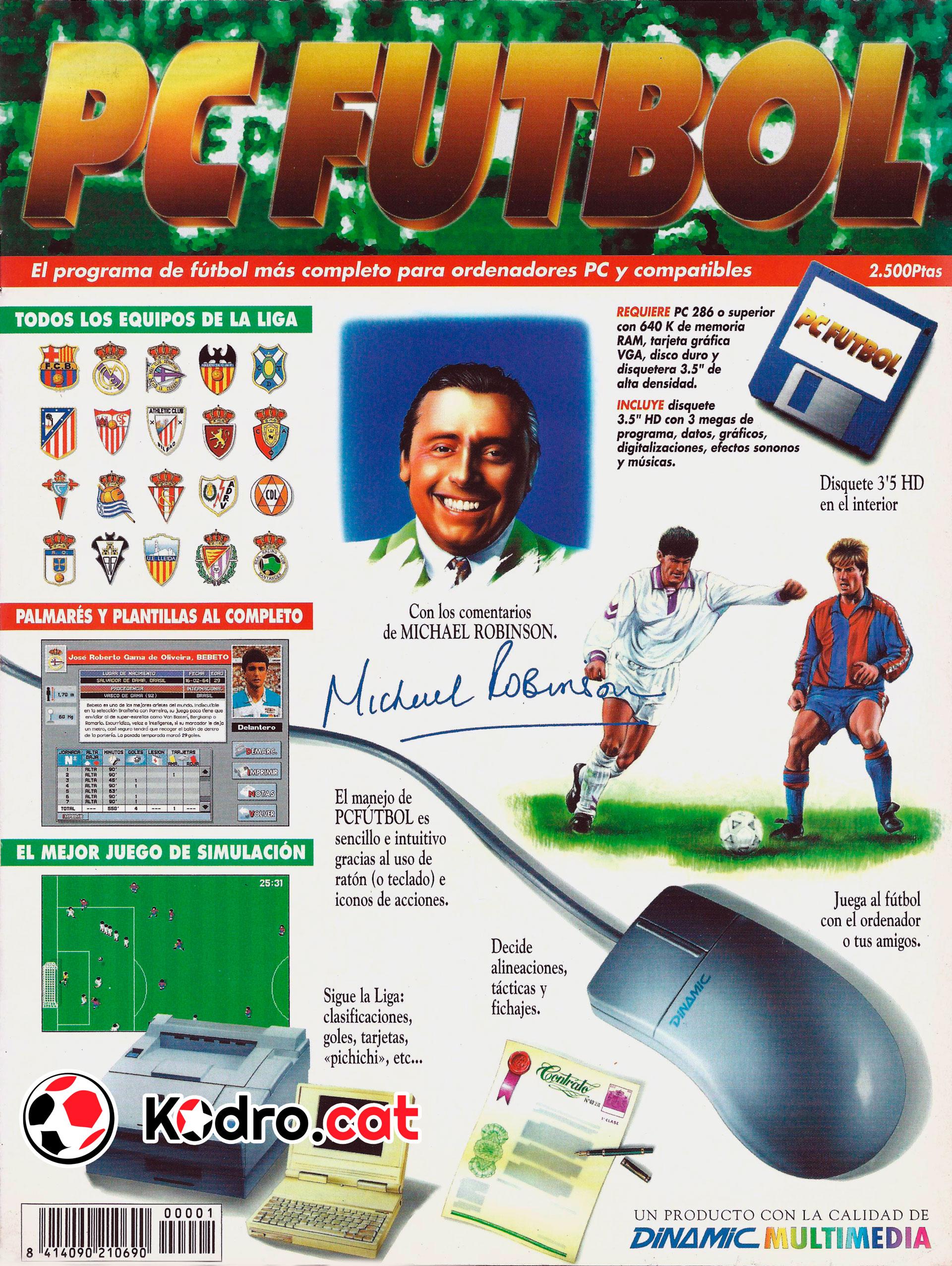 Portada de la revista del PC Fútbol 2.0