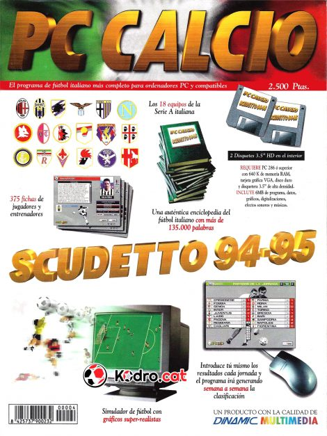 Portada revista PC Calcio Scudetto 94-95