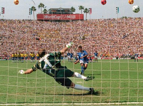Baggio fallant el penalti de la final d'USA 94