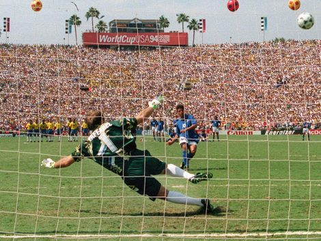 Baggio fallant el penalti de la final d'USA 94